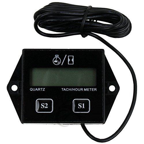 GEREE Digital Hour Meter Tachometer Tach Tacho for Gas Engine Motocycle Yamaha Honda Kawasaki BMW (Tachometers )