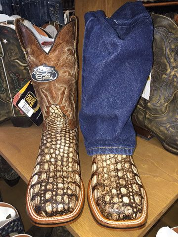 Dan Post Men's Cowboy Certified Pecan/Carmel Caiman Boots DP3862 | Cowby Boots and Western Clothing | Painted Cowgirl Western Store