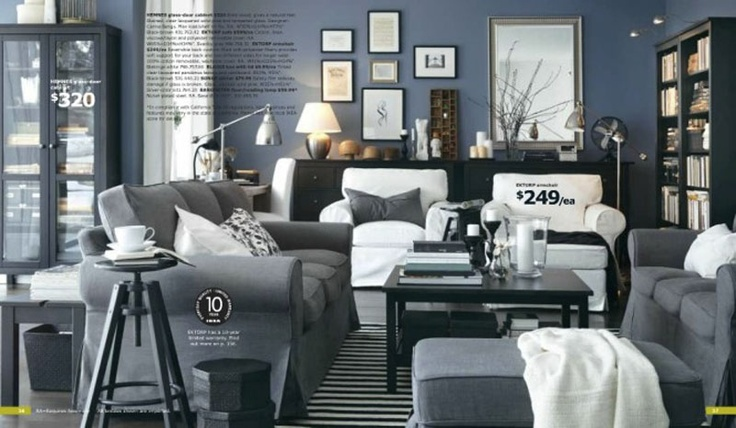 ikea inspiration grey living room - Google Search
