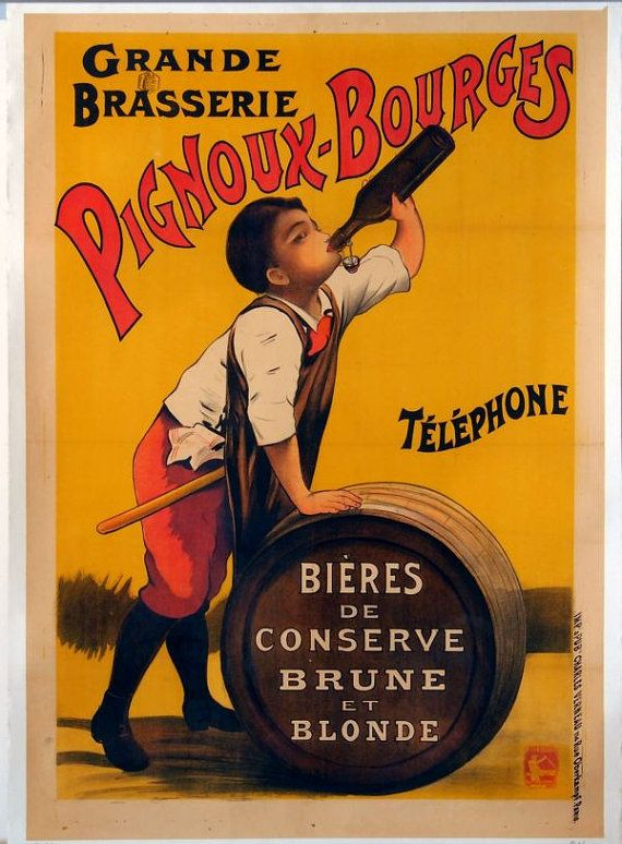 antique victorian  french beer advertisement Come and see our new website at bakedcomfortfood.com!