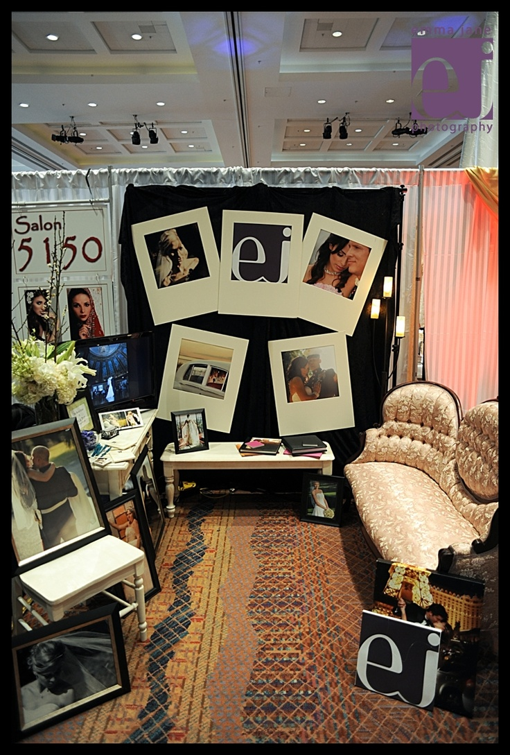 Photography booth set up for a bridal show.
