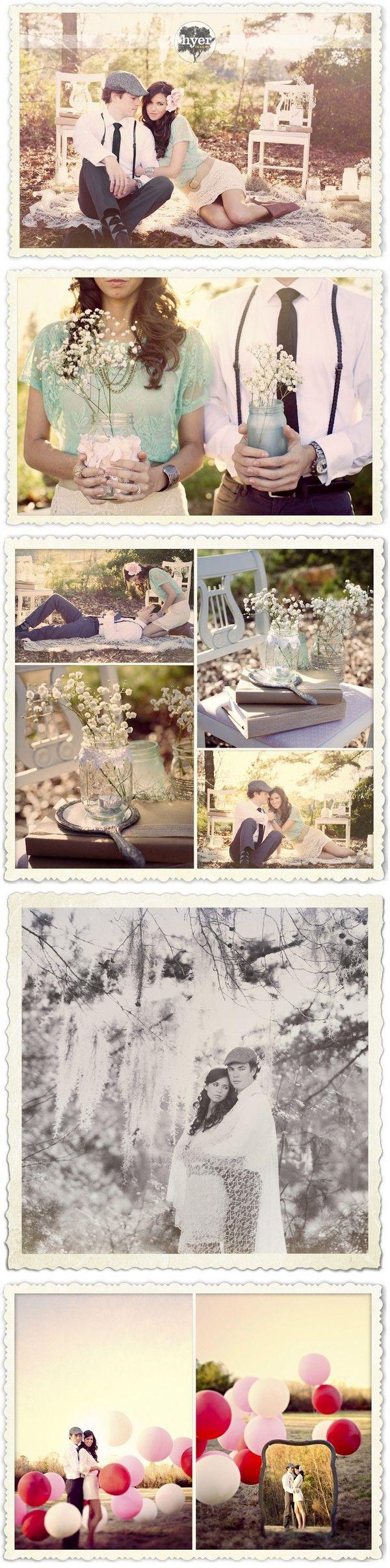 Vintage Engagement pics.. I def want vintagr pics when I get married.
