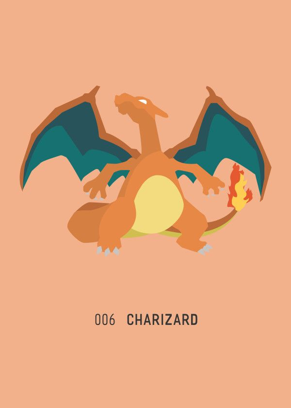 "Pokémon Starters & Evolutions 006 Charizard #Displate artwork by artist ""Ariadna S. C."". Part of a 9-piece set featuring designs based on the three Pokémon starters and their evolutions. £39 / $52 per poster (Regular size), £71 / $104 per poster (Large size) #Pokemon #Pokémon #PocketMonsters #GottaCatchEmAll #Bulbasaur #Ivysaur #Venusaur #Charmander #Charmeleon #Charizard #Squirtle #Wartortle #Blastoise #Nintendo"