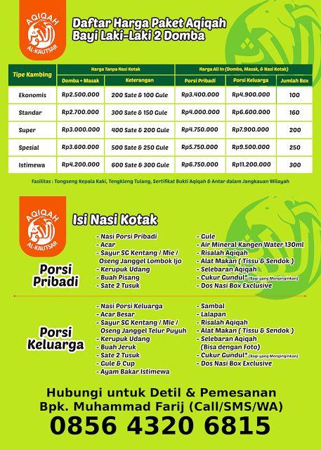Paket Aqiqah Bayi Laki-laki 2 Domba - Aqiqah di Yogyakarta