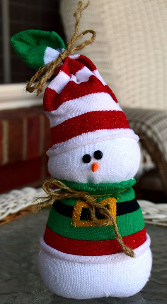 Sock Snowman Ready for Winter and NO