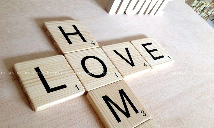 Mejores 37 im genes de scrabble decoraci n madera en pinterest eres letra letra de y madera - Letras scrabble madera ...