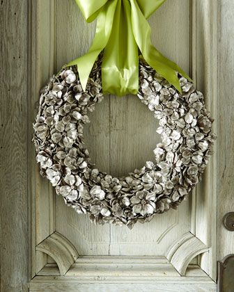 "Golden Floral Petal 19"" Christmas Wreath by Jim Marvin at Horchow."