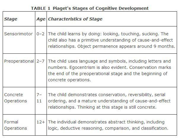 Piaget S Stage Of Cognitive Development Babystage Baby Child Theories Essay