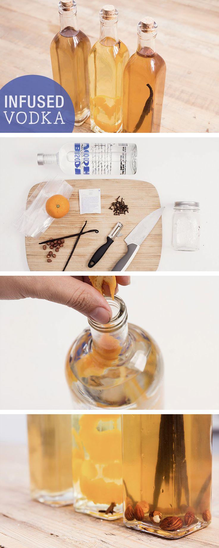 Rezept: Alkoholisches Geschenk, infused Vodka / recipe for infused vodka, gift idea via DaWanda.com