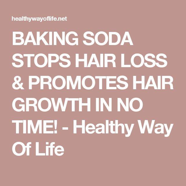 BAKING SODA STOPS HAIR LOSS & PROMOTES HAIR GROWTH IN NO TIME! - Healthy Way Of Life