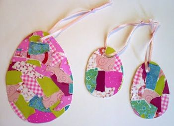easter crafts for preschoolers patchwork egg ornaments
