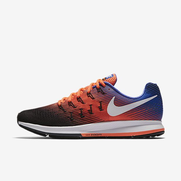 Nike Air Zoom Pegasus 33 Hyper Orange Black Paramount Blue White Mens  Running Shoes & Trainers Off Sale