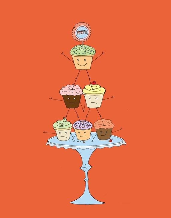 Cupcake Cheerleading Pyramid - Angela Traunig     - cute!