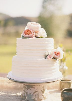 Wedding, Flowers, White, Pink, Cake, Green, Vintage, 2, Tiers, Kiki dan