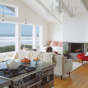 Ceiling .... 10 Stylish Living Room Makeovers | After: Simplistic View | CoastalLiving.com