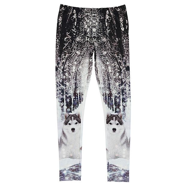 GOT Full Lenght Photographic Husky Print Leggings