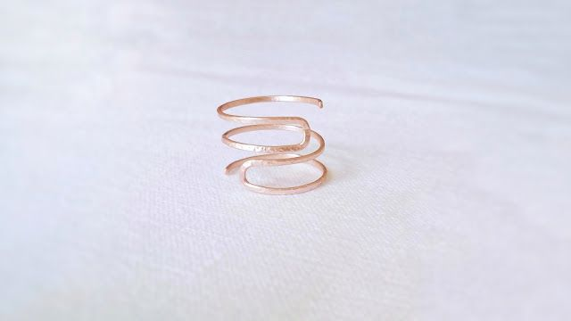 minimal wire ring jewelry tutorial