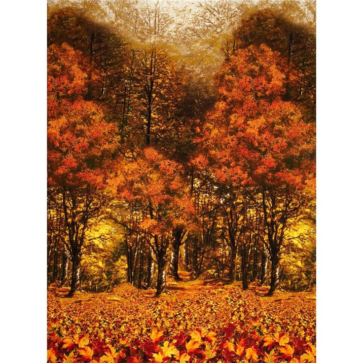 Nature Autumn Scenic Brown from @fabricdotcom  Designed by Timeless Treasures, this cotton print features an Autumn forest motif. Perfect for quilting, apparel, crafts and home décor accents. Colors include brown, olive, white, shades of yellow and shades of orange. Pattern repeats approximately every 24''.