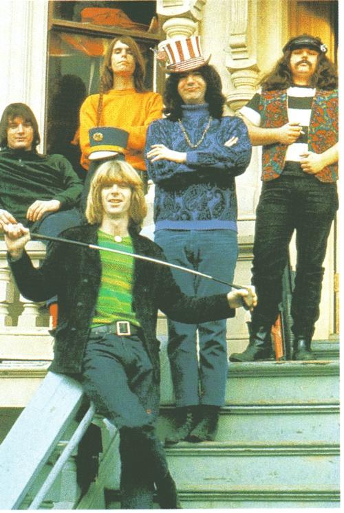 Grateful Dead in front of 710 Ashbury Street, San Francisco, 1967