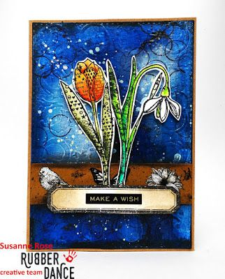 * Rubber Dance Blog *: Mixed Media Greeting Card with Textured Spring Stamps