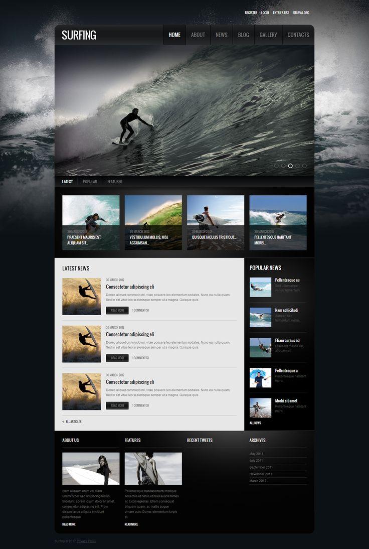 Surfing Drupal Theme