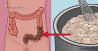 Homemade Colon Cleanse that Will Clean Your Colon of Toxic Waste - The colon cleanser contains 1 apple, 1 tbsp- flax seed, 1 tbsp- Chia, 1 tbsp- honey and cup of water. Blend all ingredients together and wait until the chia seeds have started expanding.