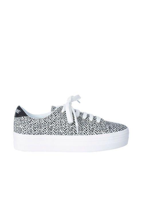 baskets plateau no name plato sneaker gris imprime femme chaussures accessoires femme