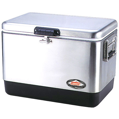 A Coleman icon, the Coleman® Steel Belted® Coolers have been in production since 1954. They're beloved by cooler users for their classic style and great cold retention. Featuring stainless steel hardware all around and a stylish metal case, these coolers are as tough as they are stylish.