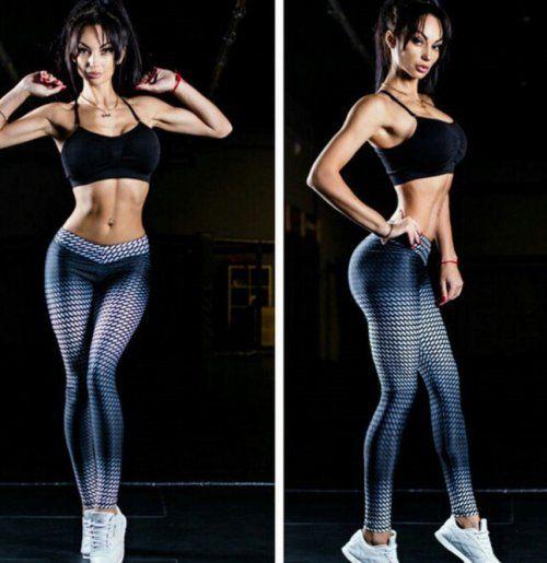 Štýlové dámske športové, fitness legíny skvalitnou potlačou. Materiál: polyester, elastén. Veľkosť podľa veľkostnej tabuľky. Poštovné abalné 1,90 eur.
