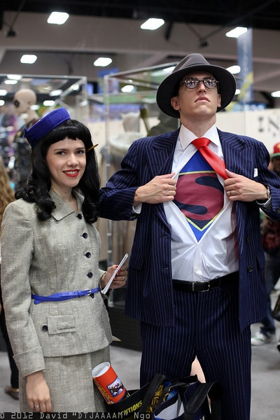 Best Couple Costume Ever!!! Lois Lane and Clark Kent