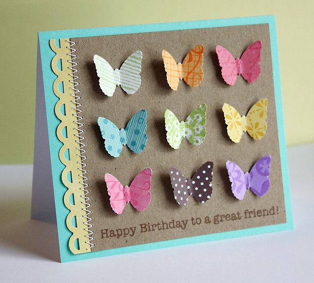 Happy Birthday Bunch Of Butterflies Card...love this!!