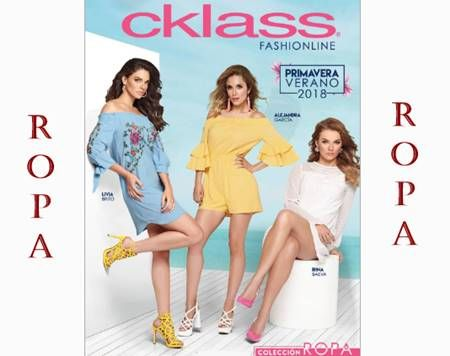 Catálogo Ropa Cklass Fashionline Primavera Verano 2018 – Mujer