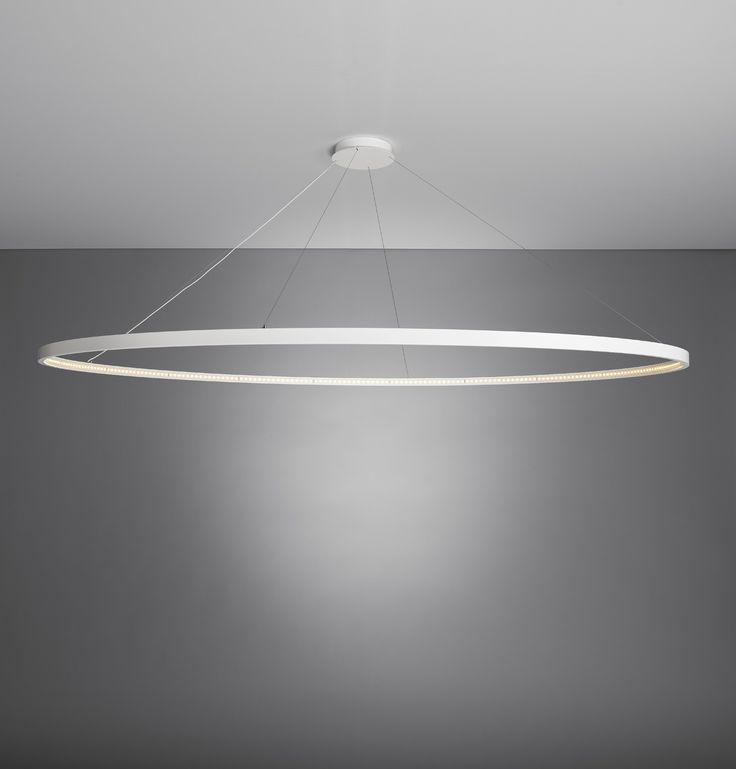 LED DIRECT-INDIRECT LIGHT STEEL PENDANT LAMP OMEGA 200 BY LE DEUN LUMINAIRES