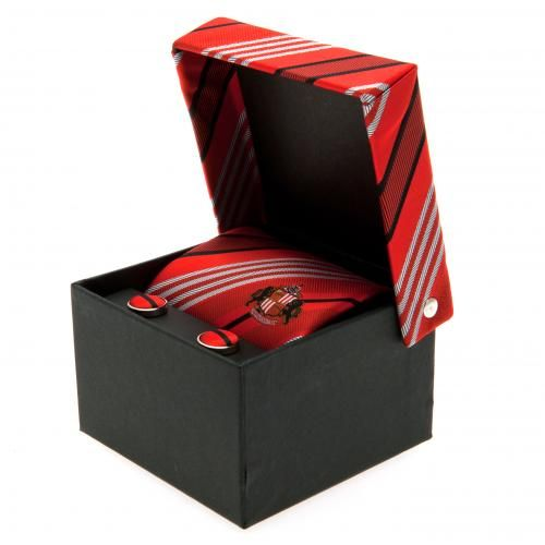 - polyester tie and cufflinks- small embroidered crest on the front- large embroidered crest on the reverse- 142cm x 9cm- matching cloth cufflinks- in a gift box- official licensed product