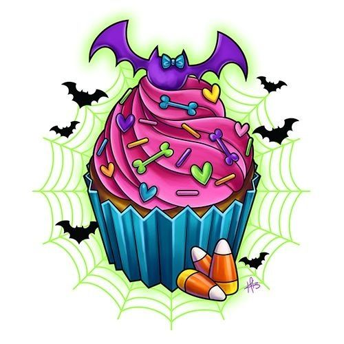 It's got three things I like ... bats, candy corn, and cupcakes!!