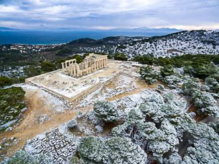 Afaia Temple in Aegina #visitgreece #greece_is #aerial #aerial_greece #drone_greece #travel_greece