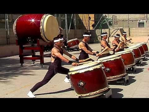 """The Shumei Taiko Ensemble - Japanese Drums (13:55). Longer version and better sound quality than the original """"The Power of Japanese Drums"""" clip."""