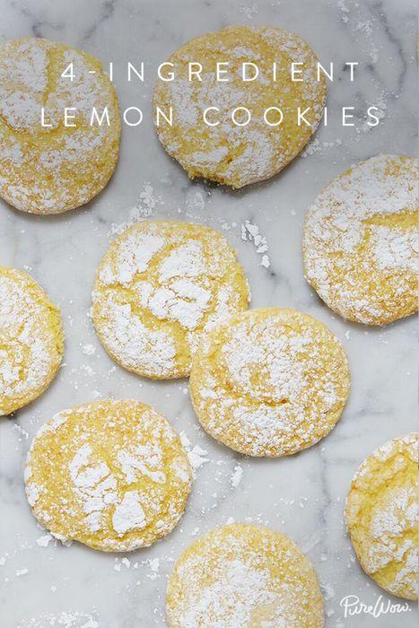 4-Ingredient Lemon Cookies  via @PureWow via @PureWow
