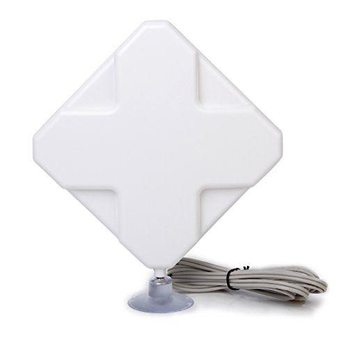 Générique Antenne 4G LTE 35dbi SMA Mâle Connecteur Booster Amplificateur de Signal pour HuaWei Equipmen ou ZTE USB Modem: Antenne à haut…