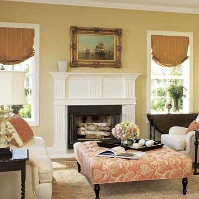 Colonial Style Living Room With Chairs And Oversized Ottoman Part 78