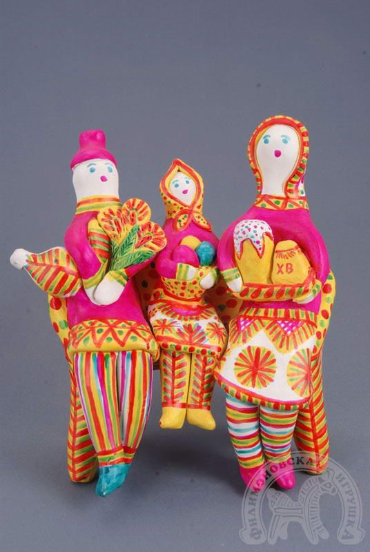 Filimonovslaya dolls folk art Russia