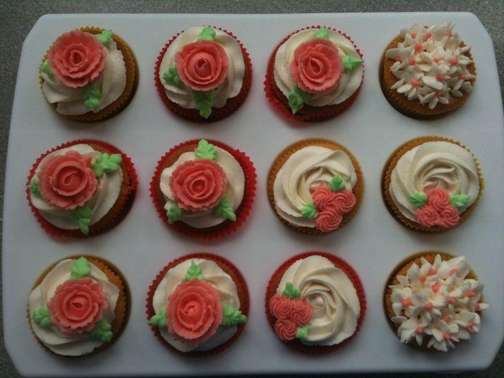 cupcakes met roosjes