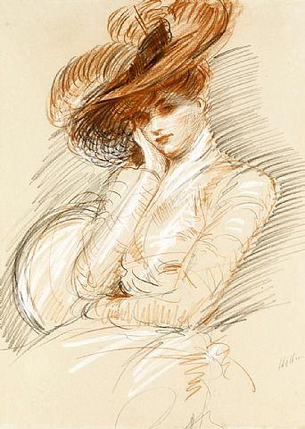 Paul Cesar Helleu - Portrait of the Artist's Wife, Alice Helleu