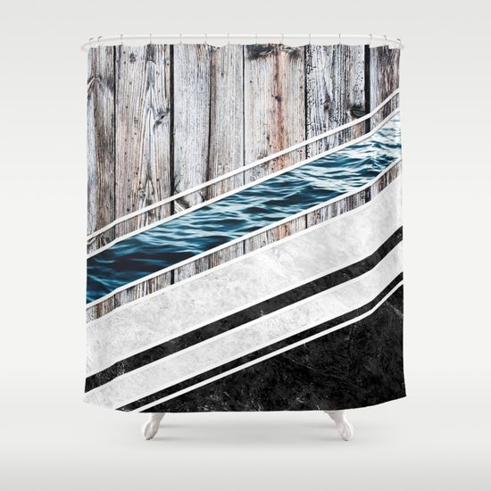 Striped Materials of Nature I Shower Curtain #wood #wooden #marble #stone #sea #ocean #stripe #stripes #striped #nature #texture #shower #curtains #showercurtains #homedecor #bathroom
