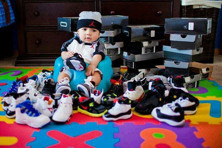 Baby Jordan... no joke!!! this is cute but damn thats a lot of money hes gonna grow out of reeeeeal quick..