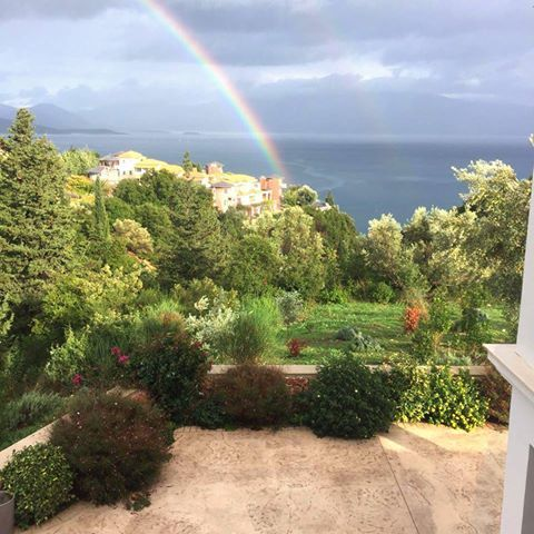 Catching a rainbow at Elixrison Villas