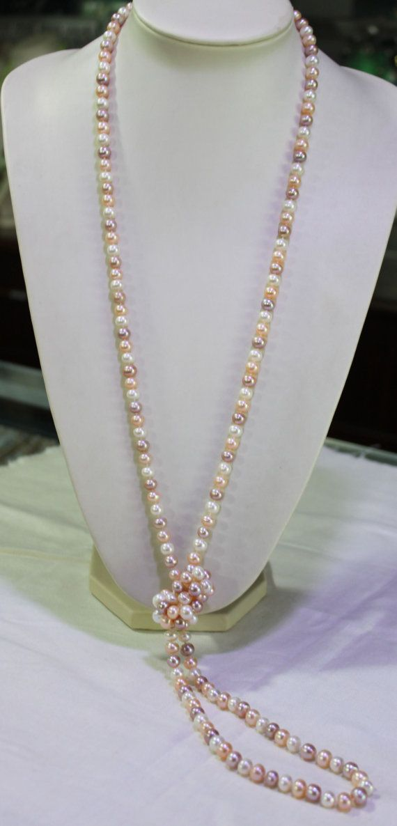 Long pearl necklace 60 inches 7-8mm Freshwater by jewelryTang