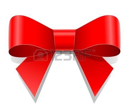 rode strik vector illustratie op een witte achtergrond Transparante objecten…