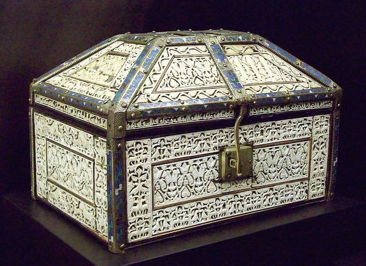 Casket of Palencia, 11th century. National Archaeological Museum, Madrid, formerly in the Treasury of the Cathedral of Palencia.