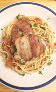 Rosemary Pan Chicken with Whiskey Butter Sauce Pasta